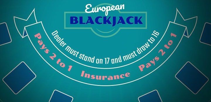 european blackjack layout
