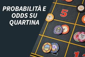 Probabilità e odds su quartina