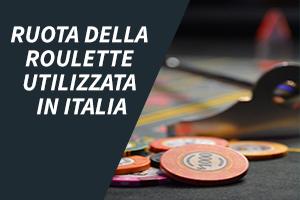 Ruota della roulette utilizzata in Italia