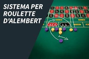 Sistema per roulette D'Alembert