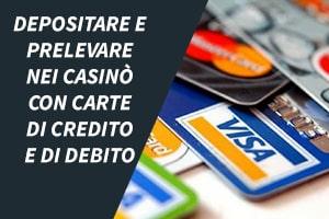 Depositare e prelevare credito/debito